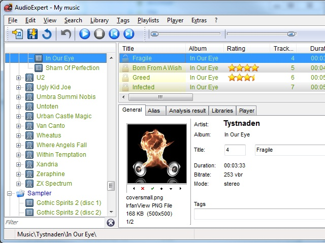 Music organizer software to manage, cleanup, sort and align music collections.
